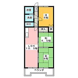 オーキッドマンション桜馬場[3階]の間取り