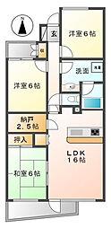 ドルチェ甲子園[5階]の間取り