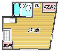 東京都板橋区富士見町の賃貸マンションの間取り