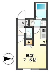 グランディール覚王山[2階]の間取り