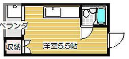 TOハイツI[201号室]の間取り