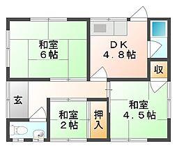 [一戸建] 岡山県岡山市北区宿本町 の賃貸【/】の間取り