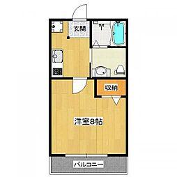 フラッティ吉野町B[106号室]の間取り