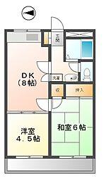 東京都小金井市貫井北町2丁目の賃貸マンションの間取り