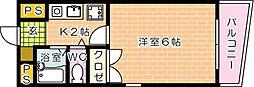 第10片山ビル--[303号室]の間取り