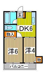 サンハイツ福田[3階]の間取り