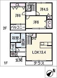 [一戸建] 愛知県名古屋市緑区藤塚1丁目 の賃貸【/】の間取り