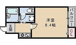 ラシーヌ山坂[5階]の間取り