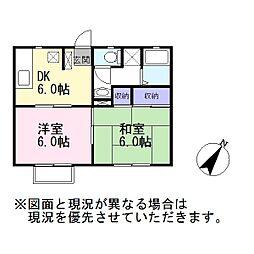 サニーフラット池田[2階]の間取り