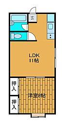 野田ハイツ[2階]の間取り