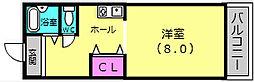 KOEIビル[3C号室]の間取り