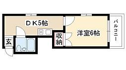 愛知県名古屋市瑞穂区桜見町2の賃貸マンションの間取り