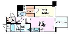 レオンコンフォート本町橋 7階1DKの間取り