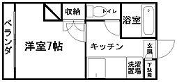 新潟県新潟市東区大形本町3丁目の賃貸アパートの間取り