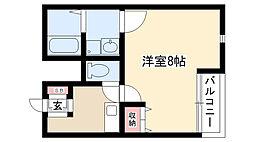 愛知県名古屋市守山区東山町の賃貸アパートの間取り