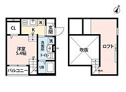 アリエッタ 吉塚[2階]の間取り