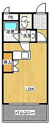 平野山ヒルズ[305号室]の間取り