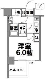 エスリード新大阪グランファースト[704号室]の間取り