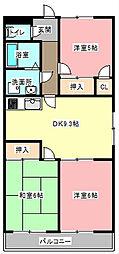マンション景桜[3階]の間取り