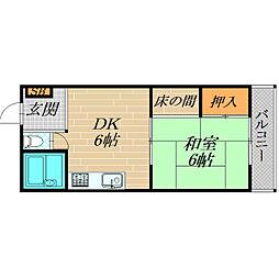 千林ハイツ[103号室]の間取り