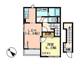 茨城県土浦市神立東2の賃貸アパートの間取り