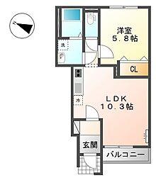 パステルコート[1階]の間取り
