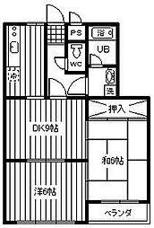 レジデンス福岡[2階]の間取り