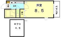 ペラパラスII[4-E号室]の間取り