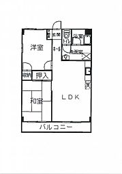 ハッピーコート東加古川[2-D号室]の間取り