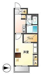 愛知県名古屋市熱田区野立町1丁目の賃貸アパートの間取り