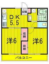 サンエルム亀甲台A[2階]の間取り