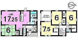 土地面積51.59坪、全居室6帖以上のゆとりある間取りです。モデルルームもございますのでお気軽にお問合せ下さい。