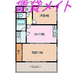 サンシャトー[2階]の間取り