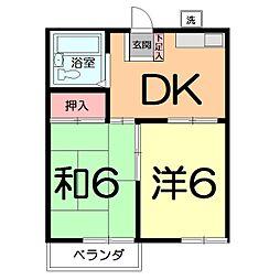 第2嶋村コーポ[103号室]の間取り
