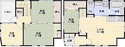 [一戸建] 大阪府柏原市法善寺2丁目 の賃貸【/】の間取り