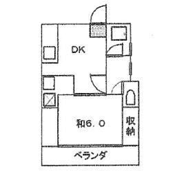 山内アパートE[101号室]の間取り