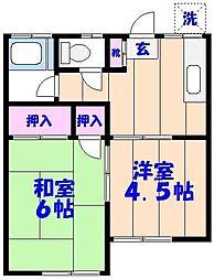第2網茂荘[103号室]の間取り