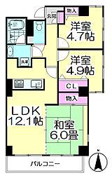 さくらマンション[701号室]の間取り