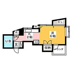 プレジデントソノヤマ[1階]の間取り