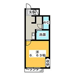 レオパレス水広下[1階]の間取り