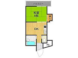 宝津マンション[3階]の間取り