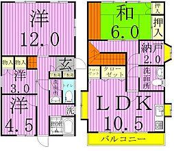 [一戸建] 千葉県松戸市下矢切 の賃貸【千葉県 / 松戸市】の間取り