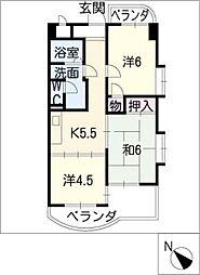 コスモアーバン[3階]の間取り