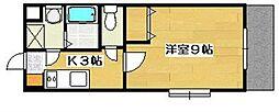 万葉ガーデン[4階]の間取り