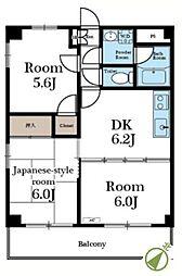 カンユウINARI[313号室]の間取り