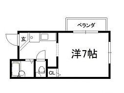 ヴィヨーム京都御所東[4階]の間取り