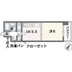 ルアディッソ福岡[8階]の間取り