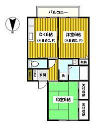 神奈川県横浜市保土ケ谷区仏向西の賃貸アパートの間取り