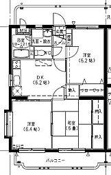 エビスマンション[401号室]の間取り