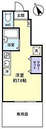 アースプレイス田喜野井[1階]の間取り